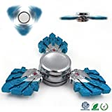 Fidget Spinner LETOUR Blue Warrior New EDC Aluminum Gyroscope Ultra Durable Alloy