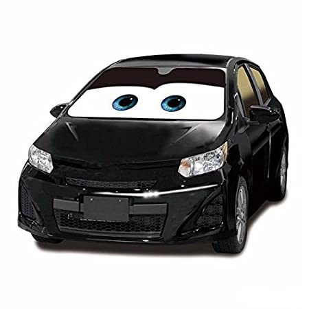 Front Auto Car Universal Windshield Sun Shade Visor Cartoon Grey Eyes