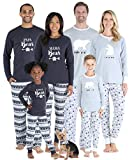 Sleepyheads Matching Family Christmas Pajama Sets, Polar Bear - Kids (SHM-4038-K-4T) Grey