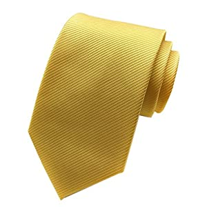 Elfeves Men's Solid Color Ties Fine Stripe Smooth Graduation Formal Suit Necktie