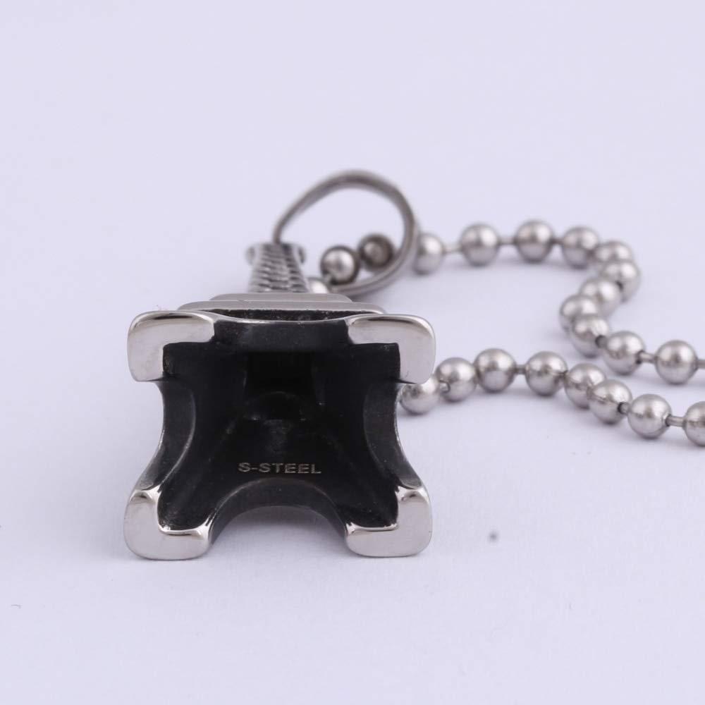 Davitu Couples Romantic Eiffel Tower Silver Tone Pendant 100/% Stainless Steel Necklace