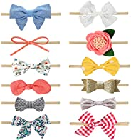 MEISO Headbands and Bows for Baby Girl 12 Pcs Hair Accessories for Newborn Infant Gift