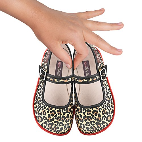 Girls Design Mini Chocolate Mary Jane Leopard Flat Chocolaticas Hot qXx5Ewdx