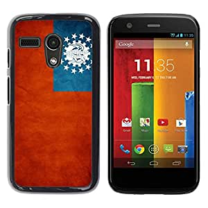 YiPhone /// Prima de resorte delgada de la cubierta del caso de Shell Armor - Myanmar Grunge Flag - Motorola Moto G 1 1ST Gen I X1032