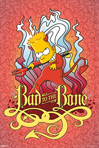 Pyramid America The Simpsons Bad to The Bone Poster 24x36 inch -