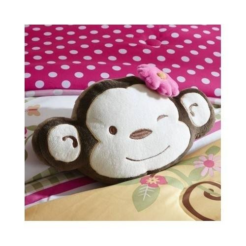 Modern Kids Girls Monkey Comforter Pink Animal Print Bedding Set with Pillows (Full/queen) Include Scented Candle Tarts by Unknown (Image #5)