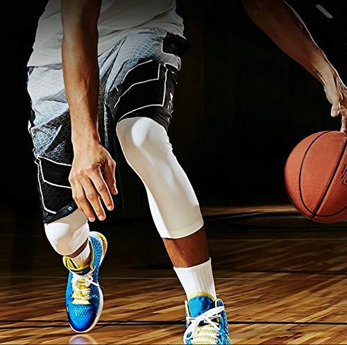 RTGFS 1 st/ück Sport Kniesch/ützer Atmungsaktiv Kniend Kompression Elastische Fitness Radfahren Basketball Beinmanschette Kniebandage Schutz Brace XL Schwarz