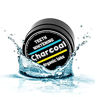 Teeth Whitening Activated Charcoal Toothpaste Powder - All Natural Organic Coconut Charcoal. Safer Alternative to Whitener Tooth Strips or Gel. Polishes Teeth Removes Stains and Improves Gum Health.