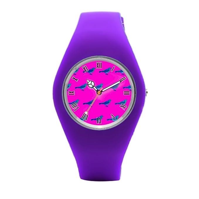 Amazon.com: TimetoShine Rubber Wrist Watches Girly Purple Sport Watch Brands: Watches