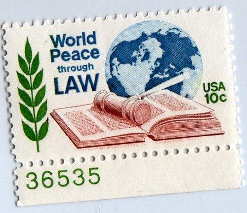 U.s .Postage 10c World Peace Through Law ()