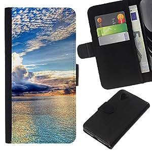 KLONGSHOP // Tirón de la caja Cartera de cuero con ranuras para tarjetas - Naturaleza Hermosa Forrest Verde 98 - LG Nexus 5 D820 D821 //