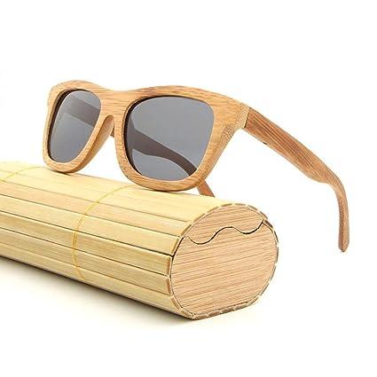 Navigatee Gafas de Sol - AZB Bamboo Gafas de Sol polarizadas para Hombre y Mujer,