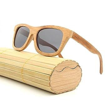 a396a131ca Navigatee Gafas de Sol - AZB Bamboo Gafas de Sol polarizadas para Hombre y  Mujer, Gafas de Sol Vintage de Madera con Caja de bambú, Flotante Wayfarer:  ...