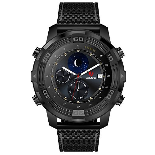 LEMFO LEM6 Smart Watch Phone Android 5.1 Waterproof 1GB + 16GB Mens Wristbands with GPS Tracker Pedometer,Black