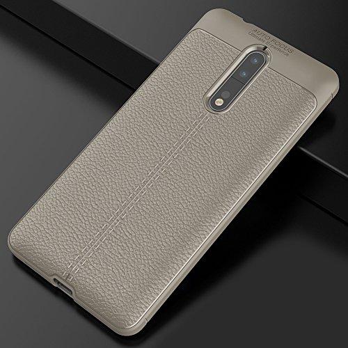 Nokia 8 Hülle, MSVII® Anti-Shock Weich TPU Silikon Hülle Schutzhülle Case Und Displayschutzfolie für Nokia 8 - Grau JY90144