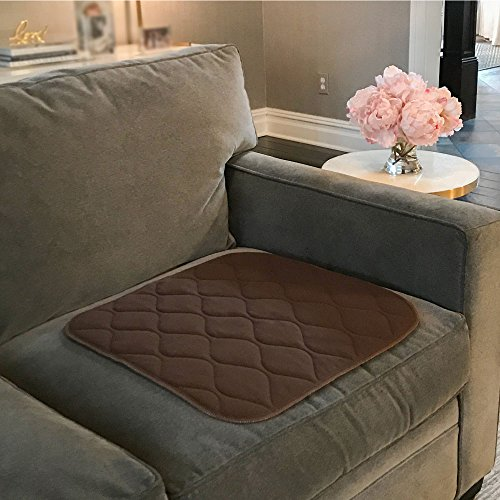 Wheelchair Pad (Gorilla Grip Original Reusable Furniture and Chair Pad for Incontinence, Maximum Absorbency, Machine Washable, Soft Cotton Blend, Pads for Beds and Wheelchairs (Chair: 21