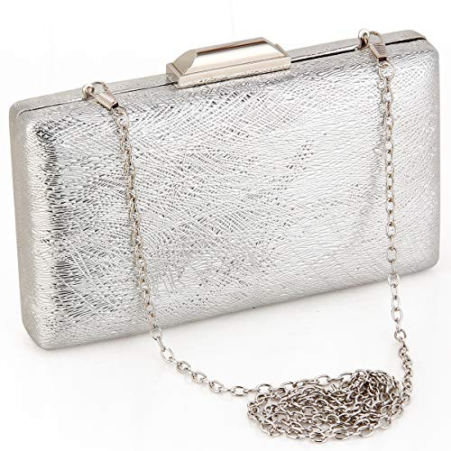 (Evening Wedding Clutch Purses For Women Party Evening Bag Cocktail Prom Bridal Purses And Handbags Metal Snap Clutches)