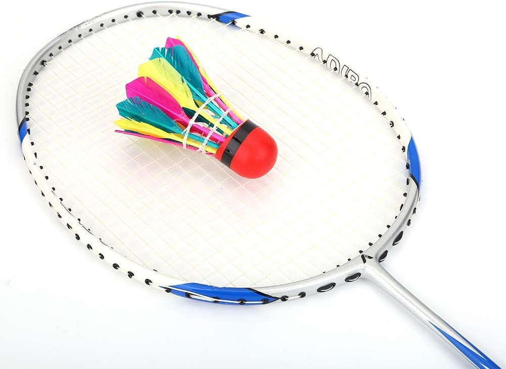 11Pcs//Lot Durable Colorful Feather Shuttlecocks with Red Leather Head for Badminton Training Solomi Badminton Balls