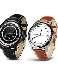 """1.33 """"reloj DM365 plena forma redonda inteligente, bluetooth 4.0 / manos libres llamadas / actividad de seguimiento / encontrar mi , silver"""