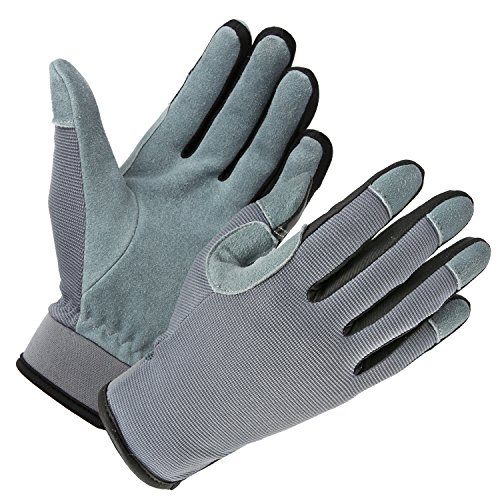 OZERO Genuine Deerskin Snug-fit Multifunction Gloves for Working, Gardening, Automotive Work and Outdoor Sports with Touch Screen Fingertips - Men & Women (S/M/L/XL)