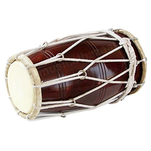 Special Dholak Drum by Maharaja Musicals, Professional Quality, Sheesham Wood, Padded Bag, Spanner, Dholki Musicals Instrument (PDI-BBC) by Maharaja Musicals