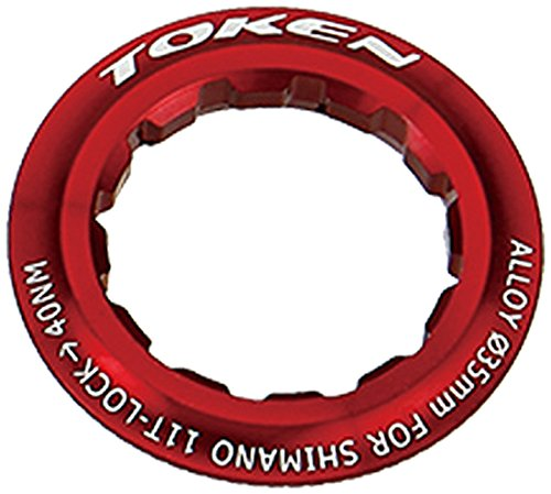 (Token Products Lock Ring for Shimano 11T Cassette, Red)