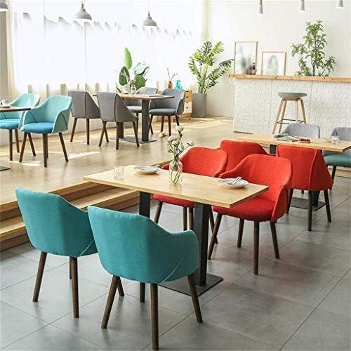YJT.cy Chaise de Salle à Manger Chaises de Loisirs en Bois Design élégant Linge Textile Chaises de Maison Café Bistro avec accoudoirs (50 × 43 × 81 cm) Orange
