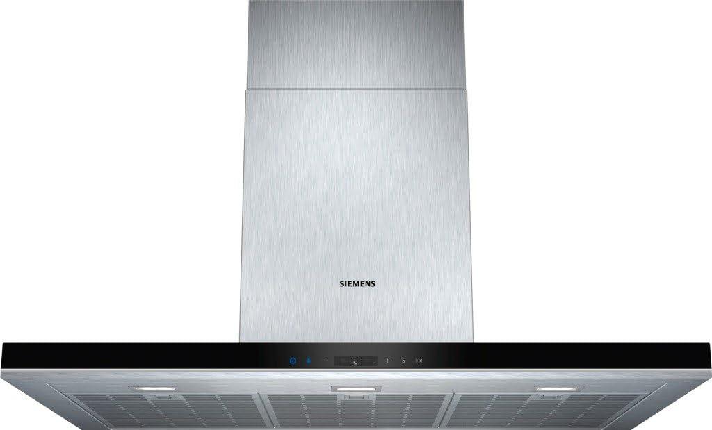 Siemens LC98BA572 - Campana (Canalizado/Recirculación, 860 m³/h, A, Montado en pared, LED, 897 Lux) Acero inoxidable