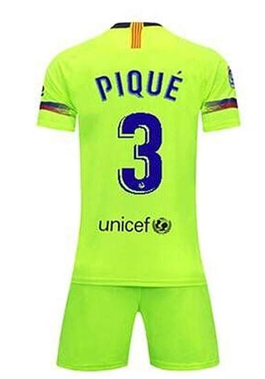 941dc277f LISIMKE Soccer Team 2018 19 Barcelona Away Soccer Pique 3 Mens  Replica Shorts Kid Youth