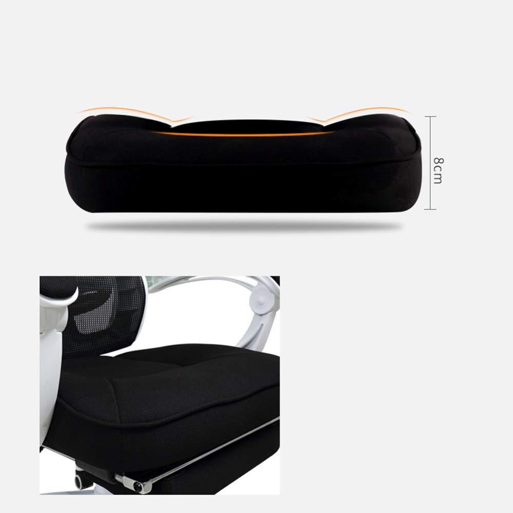 Barstolar Xiuyun datorstol arbetsergonomisk kontorsstol hög densitet svamp fyllning kudde länkning armstöd människokropp kurva Pp plastram nät skrivbord plast (färg: vit) Vitt
