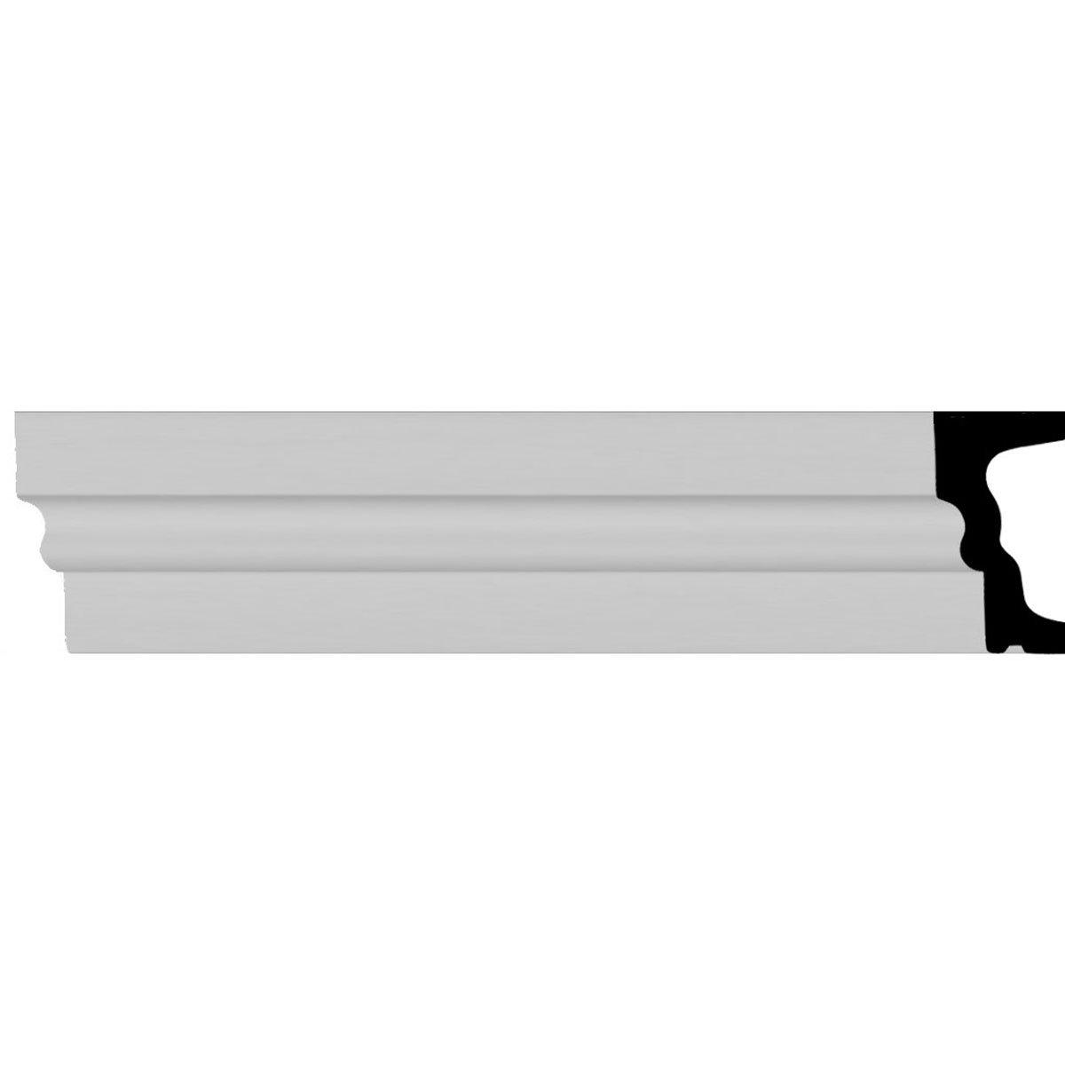 Ekena Millwork MLD06X03ST-CASE-12 5 1/2 inch H x 2 3/4 inch P x 94 1/2 inch L Standard Moulding (12-Pack),