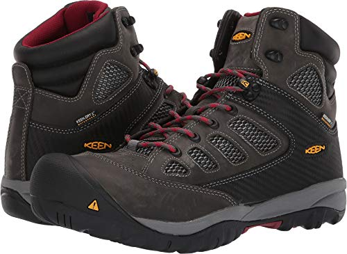 - KEEN Utility Men's Doverland Mid Magnet/Chili Pepper 9.5 D US