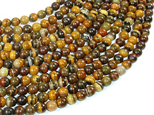 Iron Zebra Jasper Beads, 6mm (6.5mm) Round Beads #BXP_5609