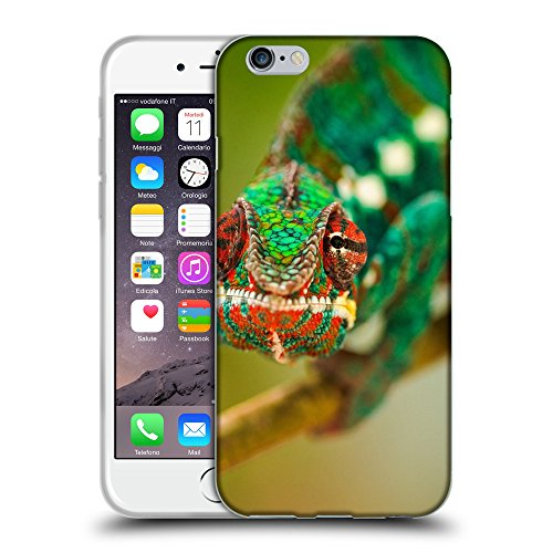 Just Phone Cases Coque de Protection TPU Silicone Case pour // V00004135 caméléon vert ramper // Apple iPhone 6 6S 6G PLUS 5.5""