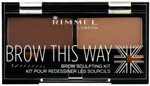 6 Pack) RIMMEL LONDON Brow This Way Brow Sculpting Kit Medium Brown: Amazon.es: Belleza