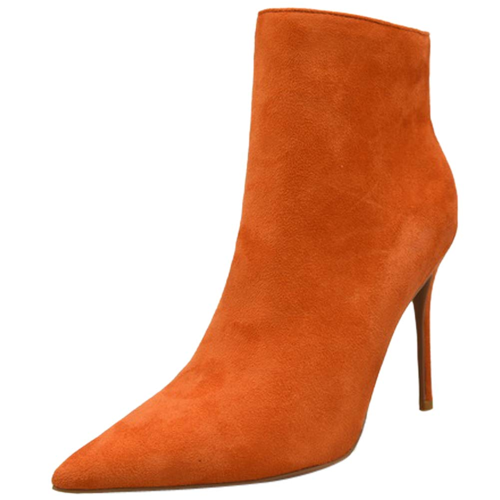 BIGTREE BIGTREE Femmes Bout Bottines Stiletto Talons Faux Suède Grande B000W069PS Taille Mode Classique Bout Pointu à Enfiler Chaussures Orange 86d9454 - therethere.space