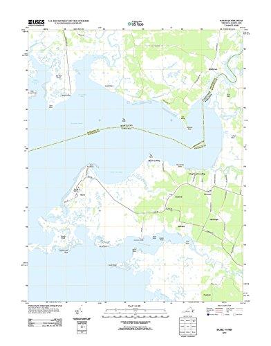 Topographic Map Poster - SAXIS, VA-MD TNM GEOPDF 7.5X7.5 GRID 24000-SCALE TM 2012 - 24