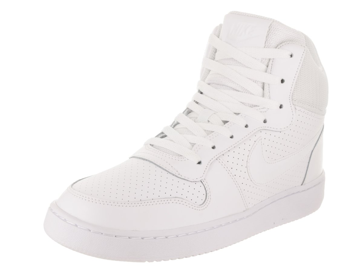 NIKE Men's Court Borough Mid White/White White Basketball Shoe 12 Men US