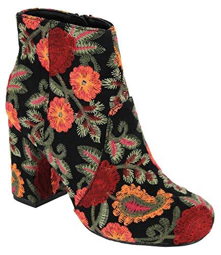 MIA Vail Women Boots, Color: Black Boquet, Size: (Mia Shoes Boots)