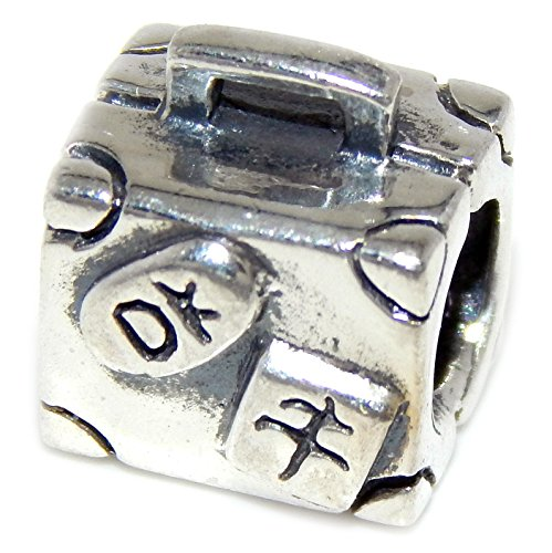 Pro Jewelry 925 Solid Sterling Silver Suitcase Charm Bead (Pandora International Charms)