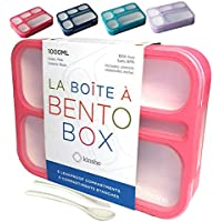 Bento-Box Lunch-box Containers for Kids Girls Toddler Women. 6 Compartment Leakproof School Portion Container Meal or…