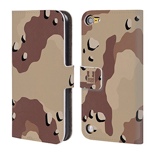 Head Case Designs Deserto Sei Colori Fantasia Militare Cover a portafoglio in pelle per iPod Touch 5th Gen / 6th Gen