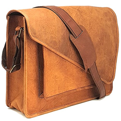 Purple Relic  New Arrival Real Leather 15 6 Inch Laptop Man Bag For Office  Crossbody Messenger Bag With Removable Laptop Sleeve For Everyday Use