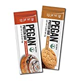 Pegan® Protein Bar (Variety Pack) 12 Bars (20g Organic Protein 2 Flavors) (Vegan/Paleo)