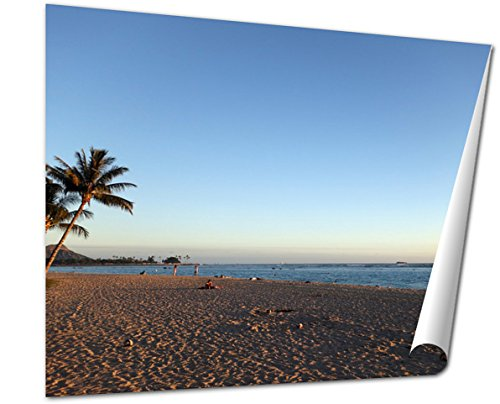 Ashley Giclee Fine Art Print, People Hang Out At Ala Moana Beach Park At Dusk, 16x20, - Moana Ala Best Buy