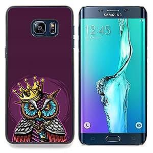 GIFT CHOICE / Teléfono Estuche protector Duro Cáscara Funda Cubierta Caso / Hard Case for Samsung Galaxy S6 Edge Plus / S6 Edge+ G928 // Majestic King Pimp Owl //