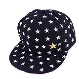 Hotsellhome New Kids Baby Children Star Pattern Hip Hop Baseball Cap Unisex UV Sun Protection Peaked Hat for Girls Boys (Black)