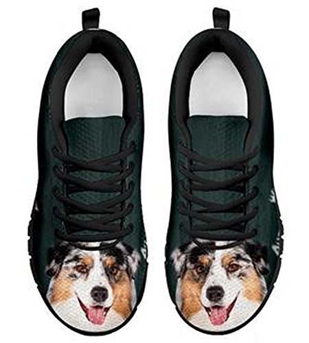 Amazing Shepherd Black Dog Brand 5 Sneakers Print Casual Australian 9 Men's dEqwpw7