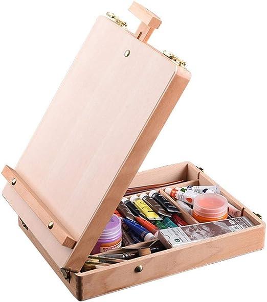 COCC Caballete de Caja Premium, Caja de Dibujo de Mesa de Madera ...