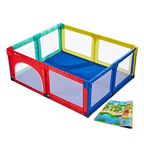 a27d16a0a Baby Playpen with Mattress Full Size Portable Playard for Toddlers ...